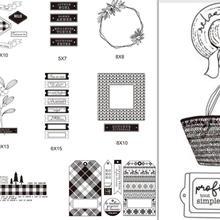 Французский прозрачный силиконовый штамп/печать для скрапбукинга/фотоальбом Декоративные прозрачные штамп листы B0110