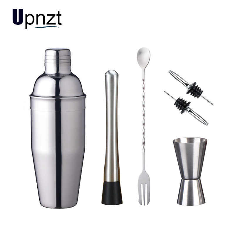 Stainless Steel Cocktail Shaker Mixer Anggur MARTINI Boston Shaker untuk Bartender Minuman Pesta Bar Alat 550 Ml/750 Ml