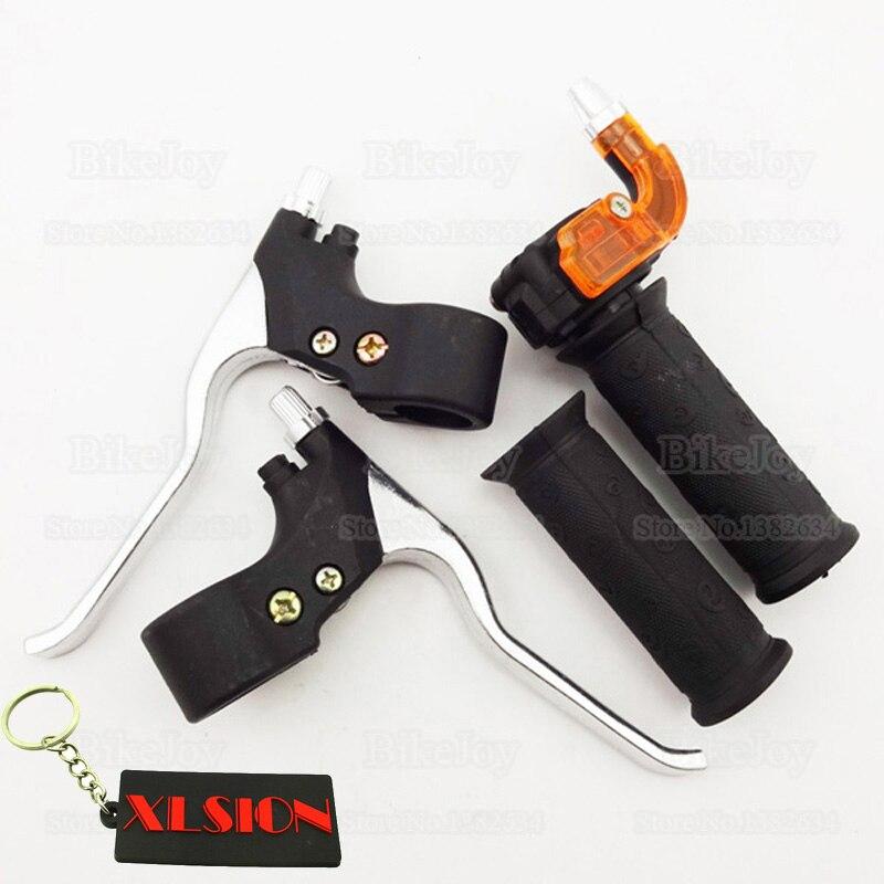 Набор ручек дроссельной заслонки с поворотом 22 мм и тормозными рычагами для 47cc 49cc 2-тактных мини-мотокросса, карманные велосипедные квадроциклы Minimoto Minicross