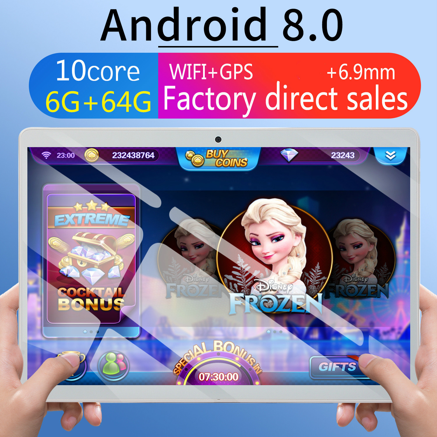2020 WiFi Tablet PC 10 Inch Ten Core 4G Network Android 8.0 6G+64GB Dual SIM Dual Camera Rear