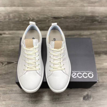 Golf-Shoes Sport-Sneakers White Genuine-Leather High-Quality Yellow New Men Footwears-Size