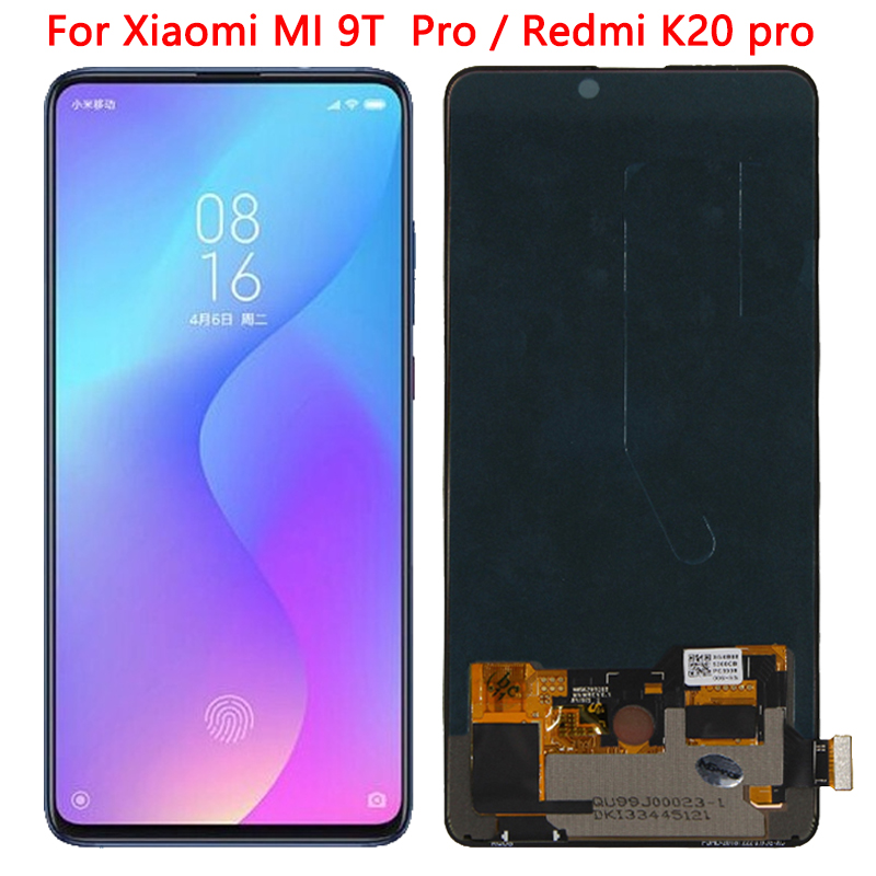 SUPER AMOLED For Xiaomi MI 9T LCD For Xiaomi Redmi K20 Pro LCD Display Touch Screen Digitizer Assembly For Redmi K20 LCD Repair