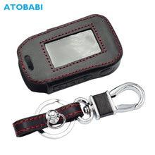 Lederen Sleutel Case Voor Starline A92 A94 A62 A64 A95 Twee Weg Auto Alarm Lcd Afstandsbediening Zender Sleutelhanger Protector cover Bag