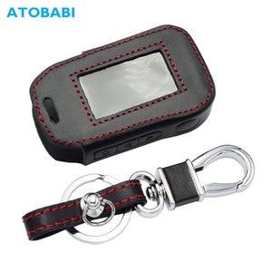 Image 1 - Lederen Sleutel Case Voor Starline A92 A94 A62 A64 A95 Twee Weg Auto Alarm Lcd Afstandsbediening Zender Sleutelhanger Protector cover Bag