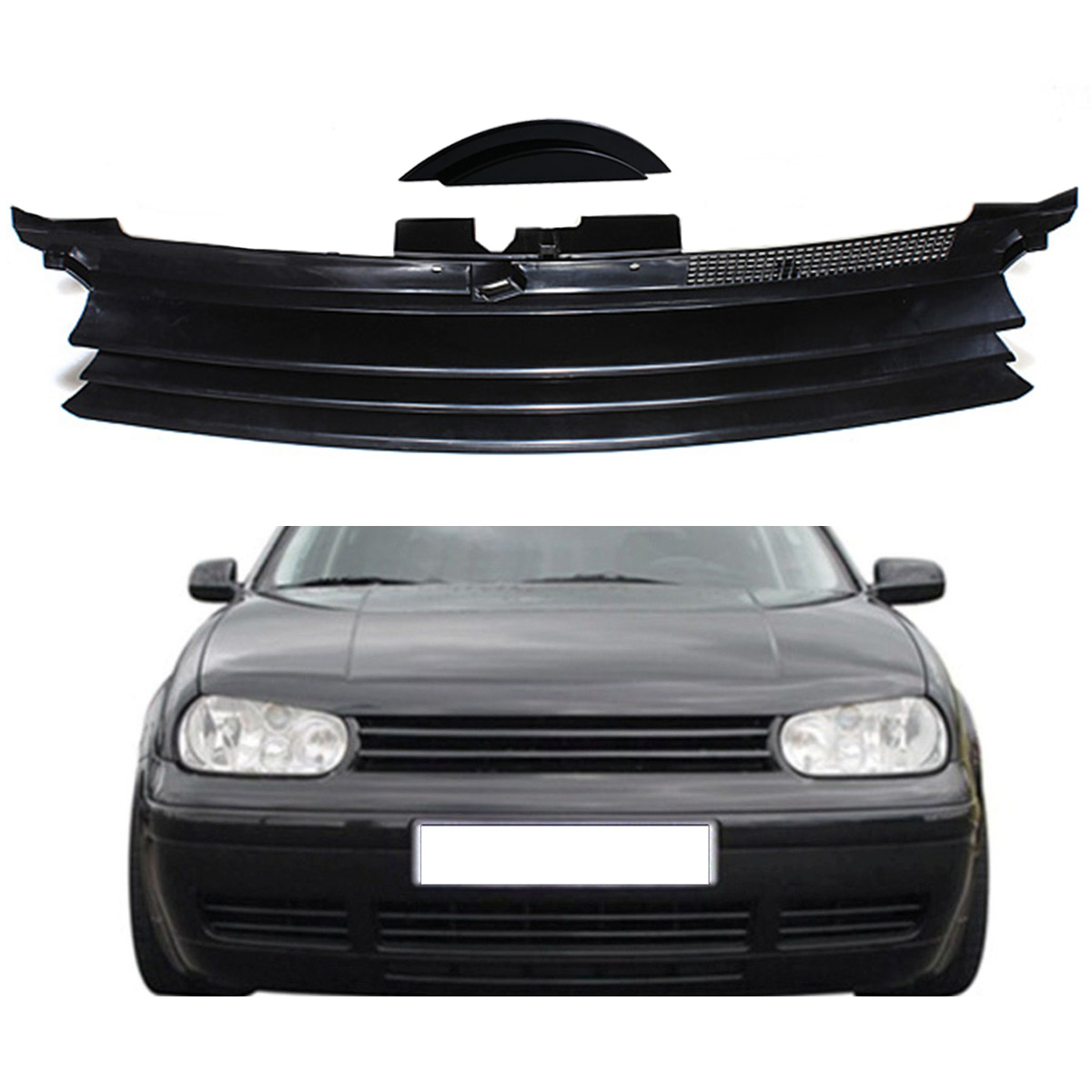 HOOD GRILL FOR AUDI 80 TYP B4 BLACK SPORT BADGELESS FRONT GRILLE DEBADGED