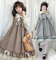 Lolita Dress Soft Sister Dress Autumn And Winter Small Fresh Pettiskirt Lolita Japanese Lori Sweet Princess Dress