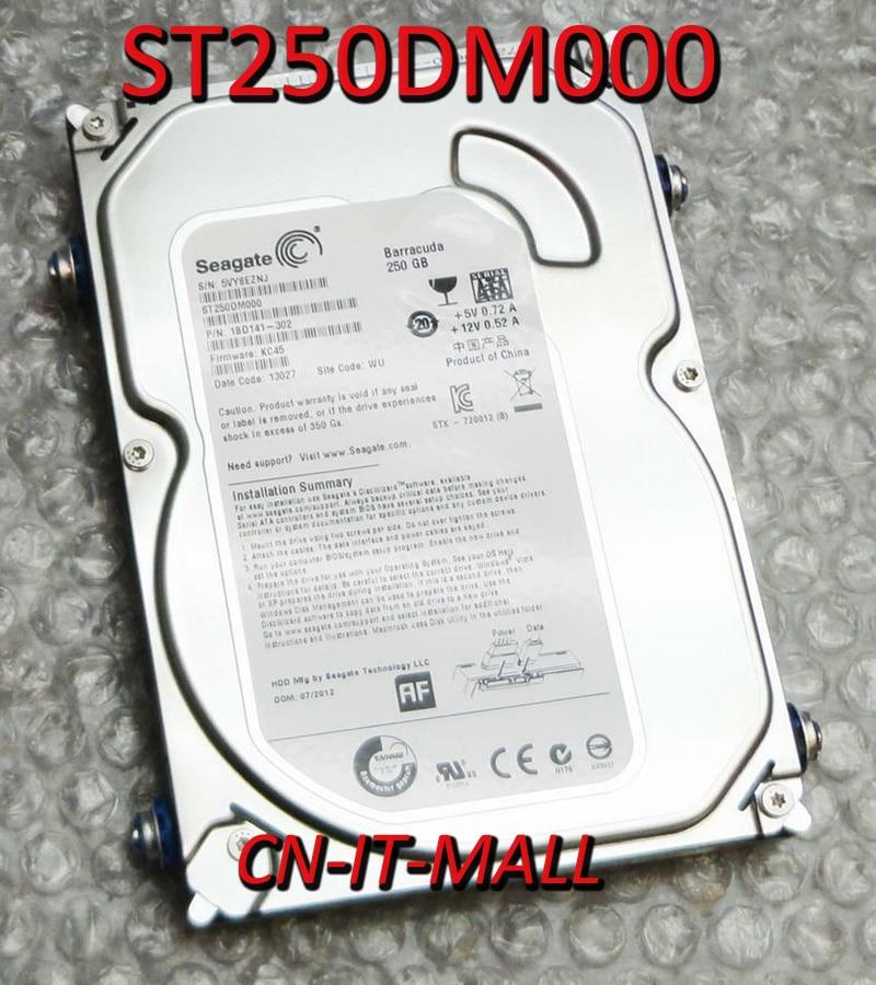 Внутренний жесткий диск Seagate для настольных ПК ST250DM000, 250 ГБ, 16 Мб кэш-памяти, SATA 6, 0, 0, 5 дюймов, внутренний жесткий диск
