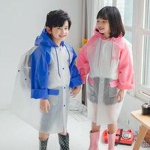 Детский плащ дождевик yuding контрастного цвета с капюшоном