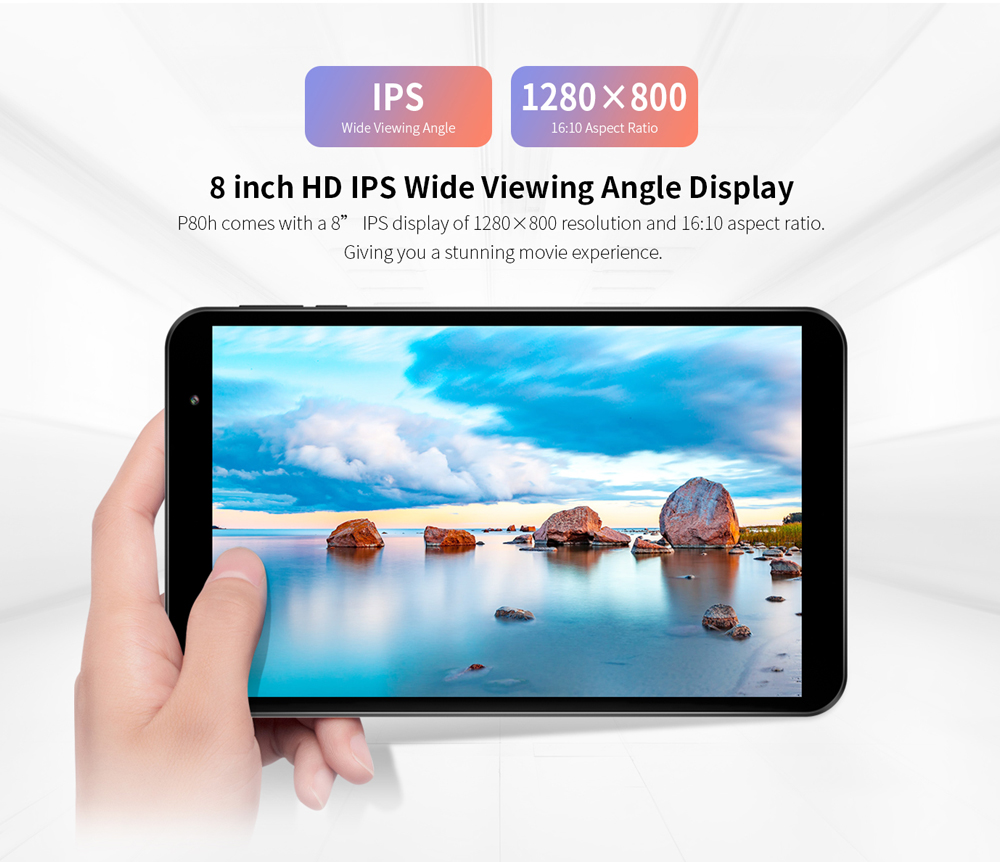 Teclast P80H Tablet Android 10 2GB RAM 32GB ROM 8 Inch Tablette 1280x800 IPS SC7731E Quad core Tablets PC Dual Camera GPS WIFI
