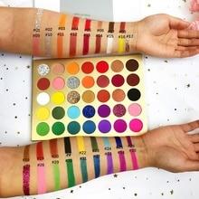 Wholesale 35 Colors Eyeshadow Palette Private Label Pigment EyeShadow Palette Professional Colorful Eyeshadow Custom Logo Makeup