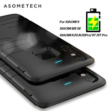 Ultra Thin Battery Case For Xiaomi 8 9 8 SE Power Bank Charging Cover For Redmi K20/K20Pro/9T/9T Pro Battry charger Case 6800mAh