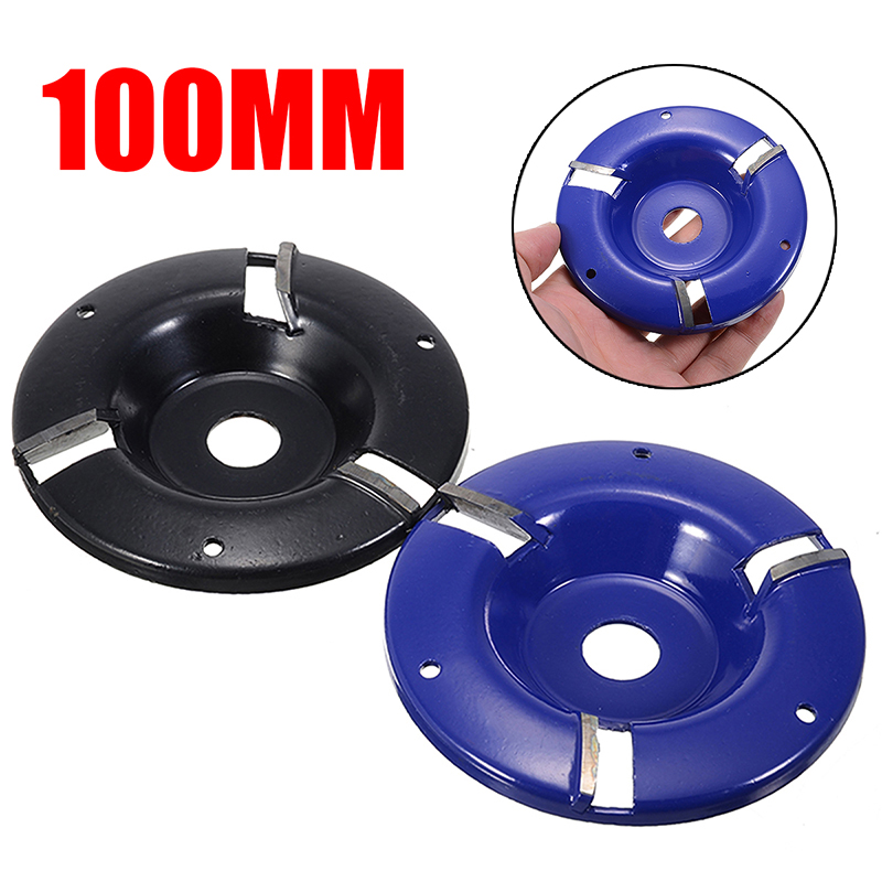 100mm Wood Carving Disc Angle Grinder Woodworking Turbo Plane For 16mm Aperture Angle Grinder 3-tooth Milling Cutter Tool