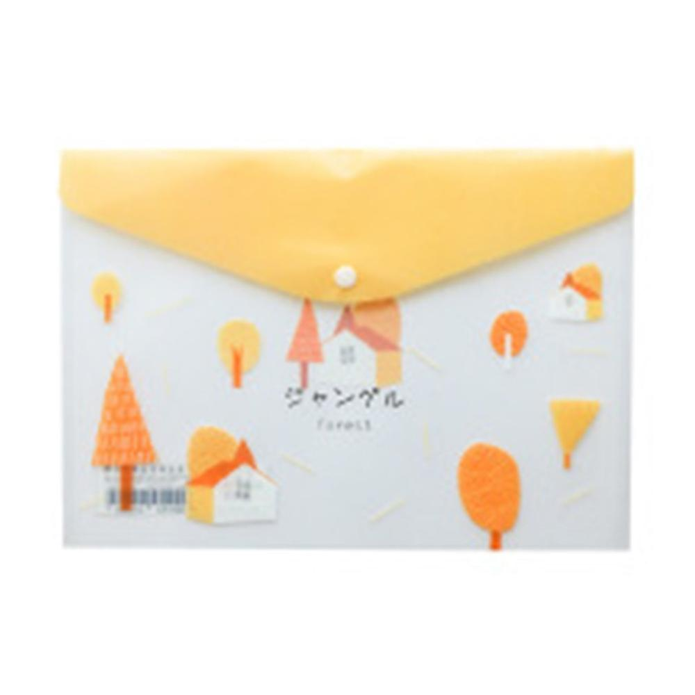 Cute Cartoon A4 Document Bag Paper File Folder Stationery School Office Case 4 Colors Available