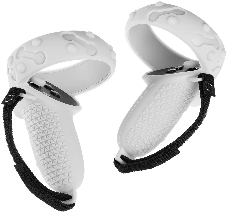 Para oculus ques 2 vr controlador de toque aperto capa ajustável 3in1 silicone capa alça manga protetora para oculus quest2 acces