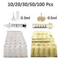 Tête stérile jetable d'ampoule de seringue de 0.3/0.5ml pour l'injection de remplissage de lèvre de retrait de ride de pistolet d'injection de stylo hyaluronique