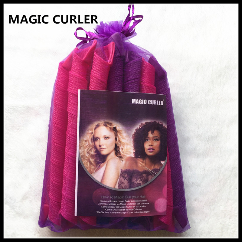 20PCS 30/55/65/75cm Magic Sspiral Plastic Manual Curlers Magic Curls