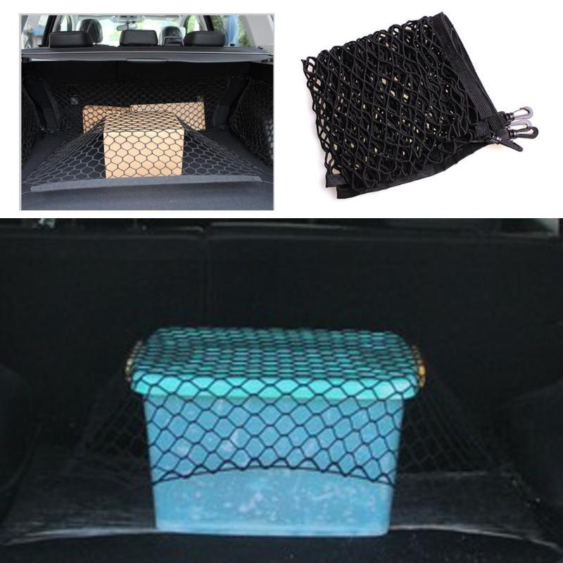 Автомобильный стиль, сетка для багажника, эластичный нейлоновый задний багажник, органайзер для хранения багажа, автомобильный аксессуар 90*60 см