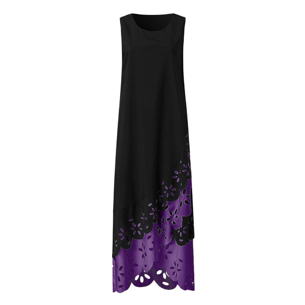 H8cc571cca2eb47f188f6a4fc964401a4T - MAXIORILL maxi dress S-5XL woman summer Sleeveless Print Round Neck beach dress