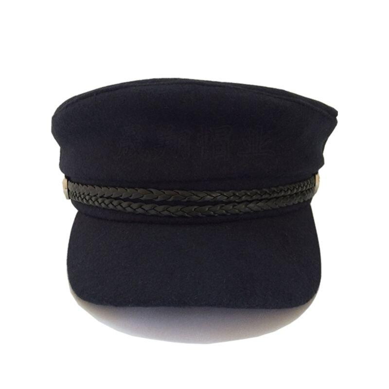 Captain's Yacht Sailors Hat Snapback Adjustable Sea Cap Navy Costume Accessory 72XC