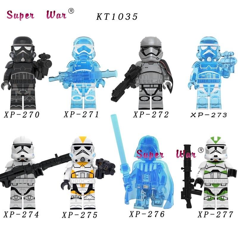 50pcs Star War Baby Yoda Darth Vader The Mandalorian KT1035 Pilot Sith Jet Trooper Jango Fett Robot Building Blocks Toys For KID