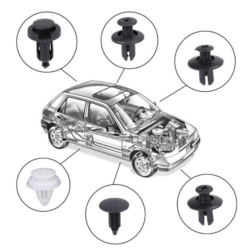 100PC 6size Clip Trim Car Push Pin Rivet Bumper Door Panel Retainer Fastener kit