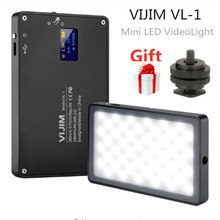 Vijim VL 1 mini luz de vídeo led iluminação fotografia vlog 96 contas 3500 k 5700 k para telefone inteligente um mais câmera dslr sony a6400