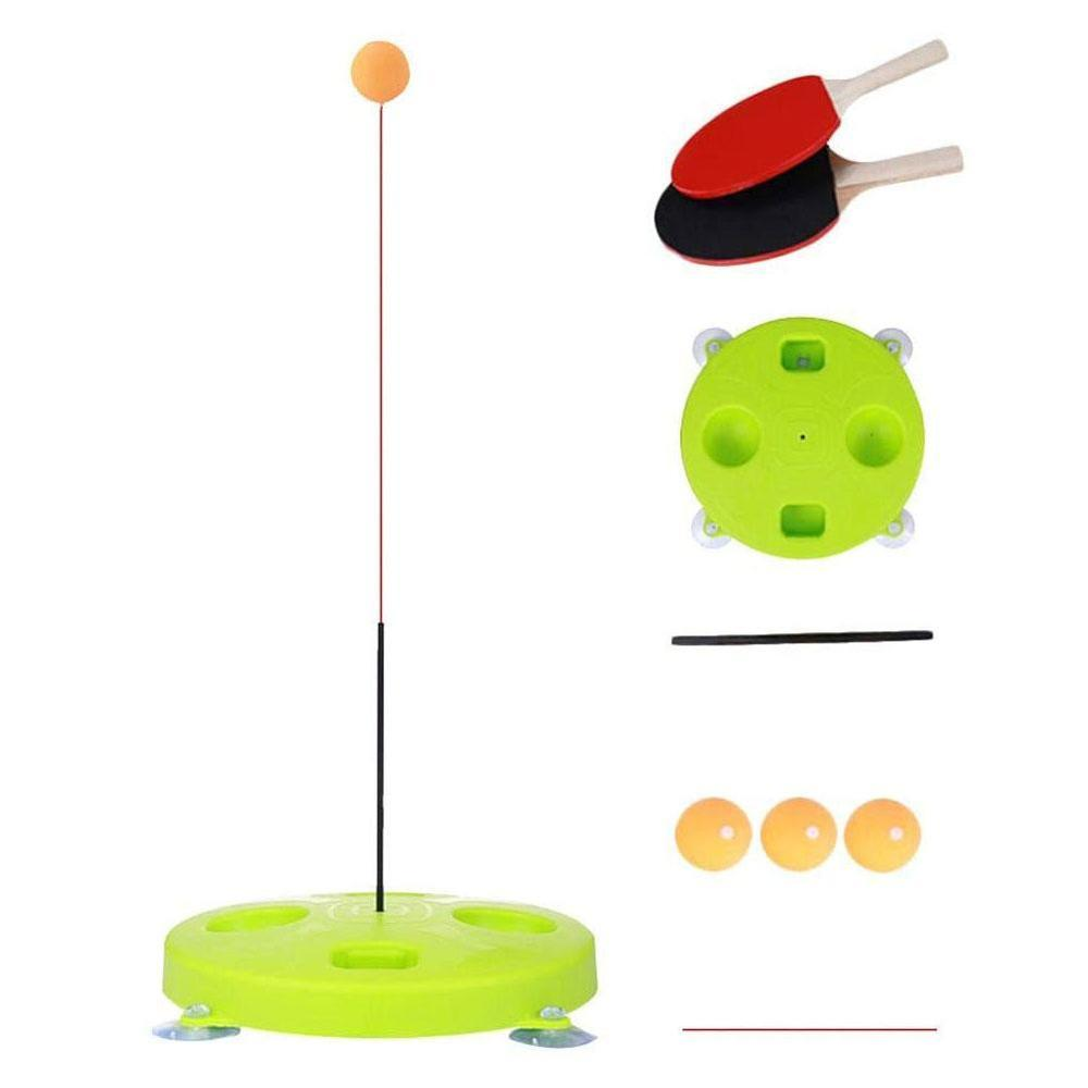 (One Shot, Two Shots, Three Balls) Indoor Or Outdoor Elastic Flexible Shaft Leisure Decompression Table Tennis Training Device