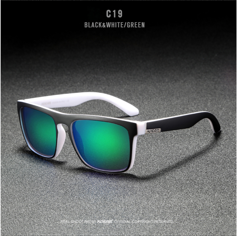 H8cc629cf33a945a099516e1567b1b75fZ - New KDEAM Mirror Polarized Sunglasses Men Ultralight Glasses Frame Square Sport Sun Glasses Male UV400 Travel Goggles CE X8