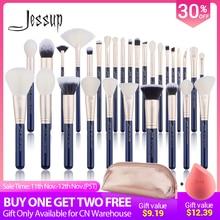 Jessup brushes Makeup brushes set 6pcs 30pcs Prussian Blue/Golden Sands Foundation brush Eyeshadow Powder Make up brush