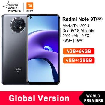 WELT PREMIERE Auf Lager Xiaomi Redmi Hinweis 9T 4GB 64GB / 128G NFC smartphone mit dual 5G SIM karten 5000mAh 48MP kamera