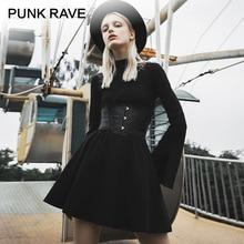 PUNK RAVE Girl's Gothic Faux Leather Underbust Corsets Fashion Punk Wide Belts Women Accessories