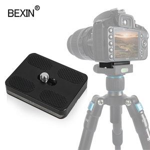 Image 2 - BEXIN tripod plate quick release plate small camera plate quick clamp fast mount PU plate for arca swiss dslr camera tripod head