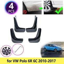 Para VW Volkswagen POLO Mudflap 6R 6C 2010 ~ 2017 Mudguards Mud Flaps Respingo Guardas Fender Carro Acessórios 2011 2012 2013 2015 2016