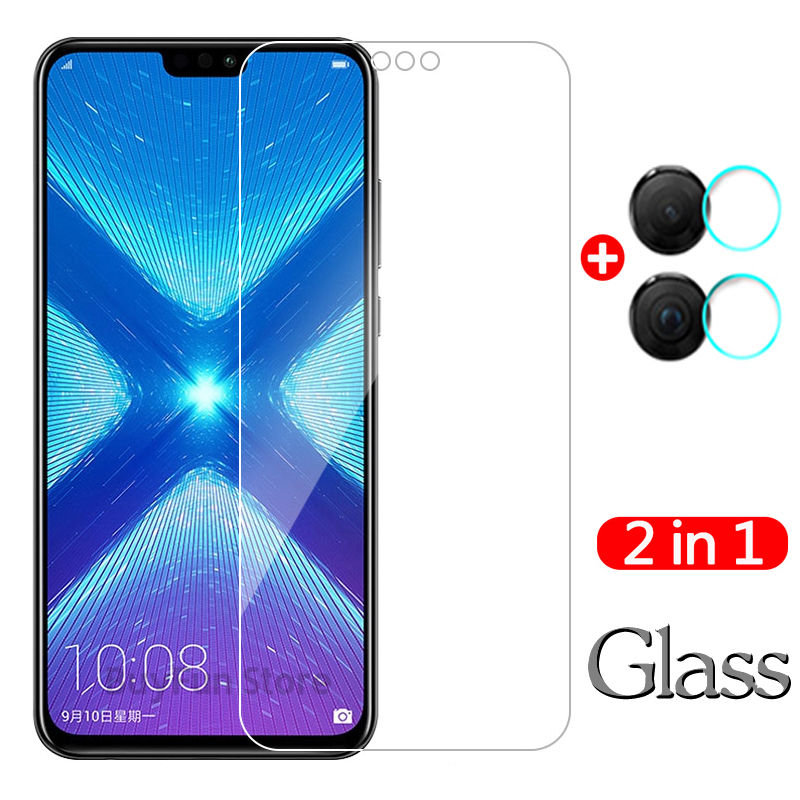 2 In 1 For Huawei Honor 8X Tempered Glass Screen Protector For Huawei Honor 8X JSN L22 L21 Honor8x Camera Lens Protective Film