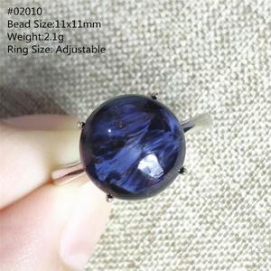 Image 4 - ナチュラルブルー pietersite 宝石ナミビアから調整リング猫目変彩する 925 シルバークリスタル女性男性 aaaaa