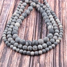 Hot?Sale?Natural?Stone?Black Network15.5?Pick?Size?4/6/8/10/12mm?fit?Diy?Charms?Beads?Jewelry?Making?Accessories