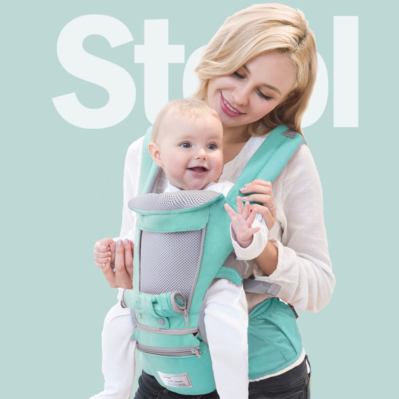 AIEBAO Ergonomic Baby Carrier Infant Backpack Baby Hipseat Waist Stool Front Facing Kangaroo