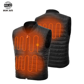 IronJia NEW Motorcycle Jacket USB Infrared Electric Heating Men Winter Thermal Clothing Waistcoat Motorcycle Electric Vest фото