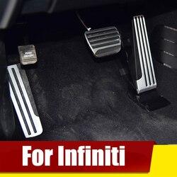 Dla Infiniti G25 G35 G37 Q50 Q60 EX25 QX50 QX70 EX FX M25 Q60S akcelerator pedał gazu i hamulca podnóżek przypadku klocki wykończenia akcesoria w Pedały od Samochody i motocykle na