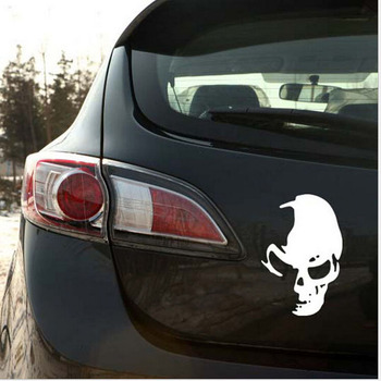 1pc Funny Creative 3D Cool Skull Car Stickers Car Styling Car Decoration Car Styling Sticker Decals image