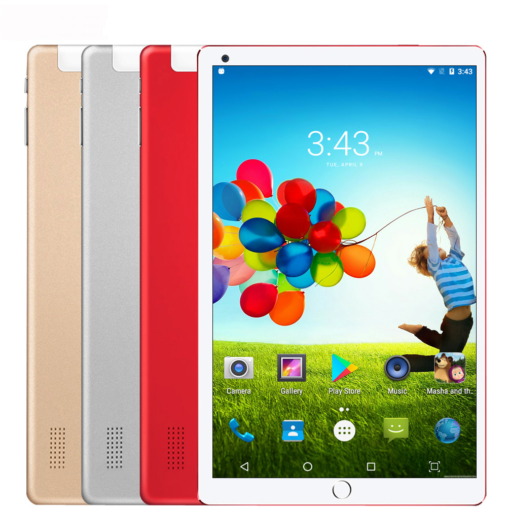10.1 Inch Android Tablet Android 7.0 Original Pad Pc Octa Core 4GB 64GB WiFi Laptop 3G Dual SIM Card 3G Phone Call Tab Tablet PC