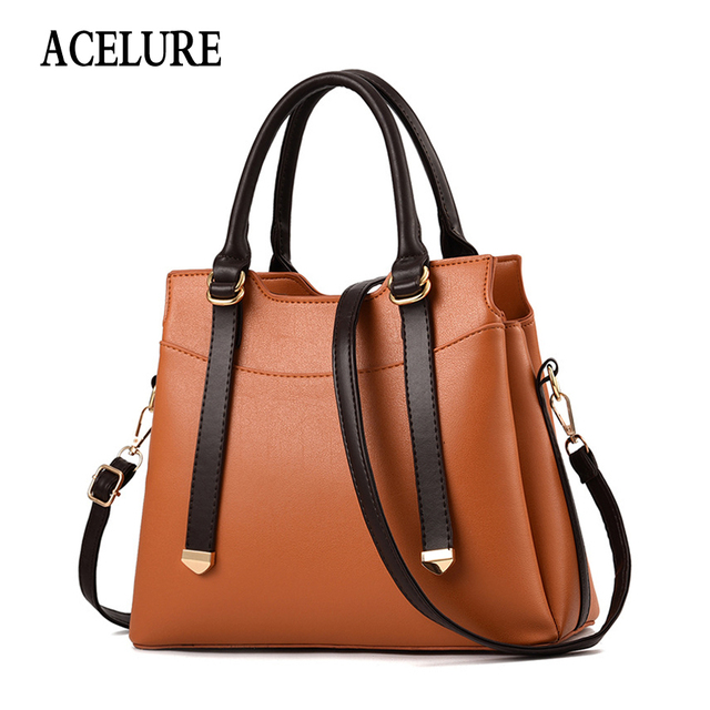 ACELURE Fashion Handbags for Women New Fashion Designer PU Leather Shoulder Bags Female Top-Handle Tote Crossbody Messenger Bag