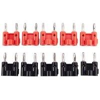 10pack Dual Banana Stecker Lautsprecher Anschlüsse Schraube Typ Schwarz + Rot|Steckverbinder|   -