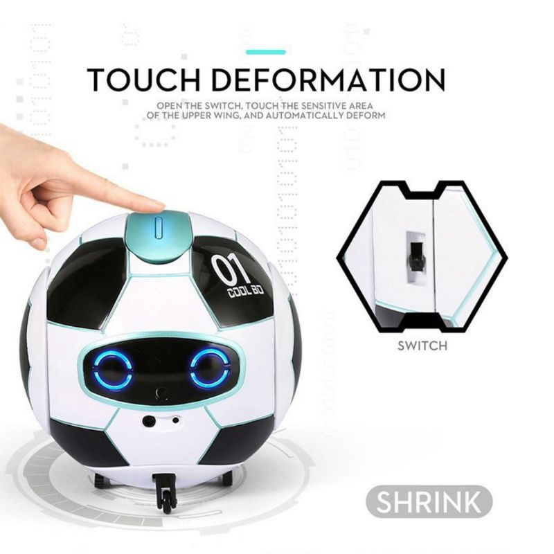 Intelligent Soccer Robot Talk Singing Dancing Repeat Touch Sensing Deformation Talking Singing Dancing