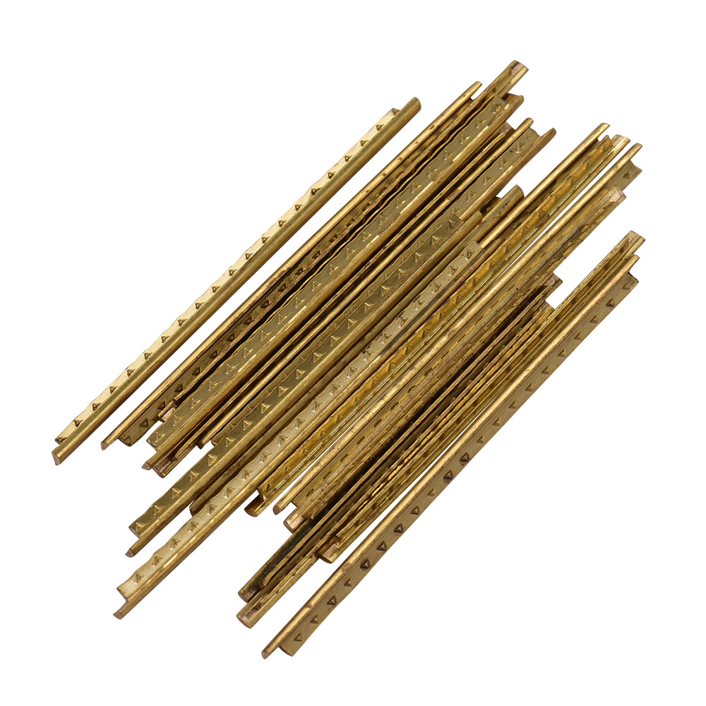 19/20pcs 2.0mm 2.2mm Brass Guitar Fret Wire Fretwires for Classic Guitar Fingerboard Guitar Accessaries