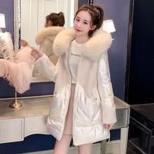 Пуховик женский средней и длины куртка из овечьей шерсти цветное