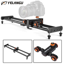 YELANGU 60cm Camera Video Track Dolly Rail + L4X Motorized Electric Track Slider Video Dolly for Smartphone SLR Camera