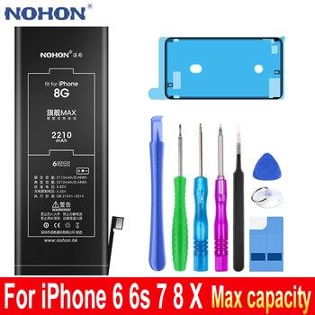 Batería Original NOHON de gran capacidad para Apple iPhone 6 S 6 S 7 8 X on iPhoneX iPhone6s iPhone6 iPhone7 iPhone8 herramientas de repuesto