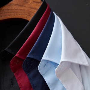 Image 2 - New High Quality 100% Cotton Mens Oxford Shirts Long Sleeve Formal Business Smart Casual Shirt Social Button Down Dress Shirt