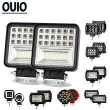 12V 24V светодиодный рабочий светильник 4x4 автомобильные аксессуары, светильник для вождения, светильник для внедорожников, точечный прожектор, комбинированный луч, противотуманный светильник, лампа для грузовика, лодки